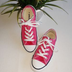 Converse Youth Pink Low Top Canvas Size 13